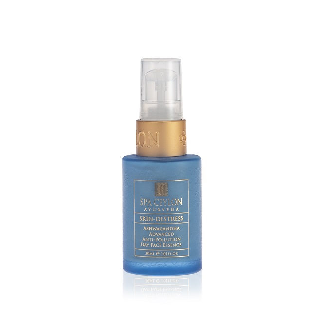 SKIN DE-STRESS - ASHWAGANDHA - Advanced Anti-Pollution Day Face Essence 30ml - pokroková denná pleťová esencia proti znečisteniu pleti